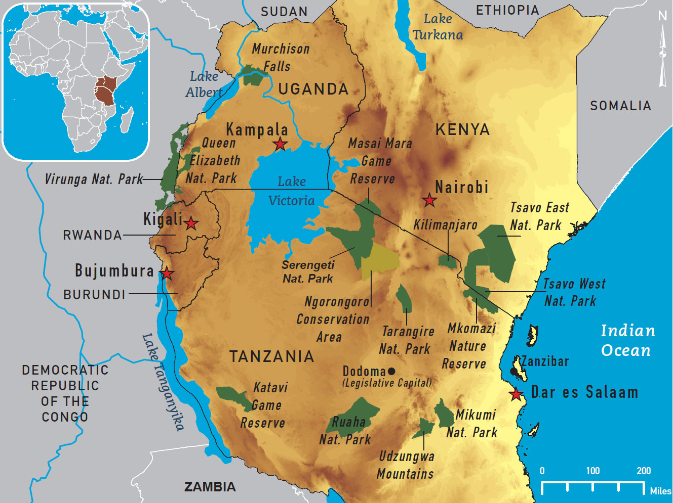 Tanzania Travel Guide Pal Davis Adventures – Kenya Tourist Attractions Map